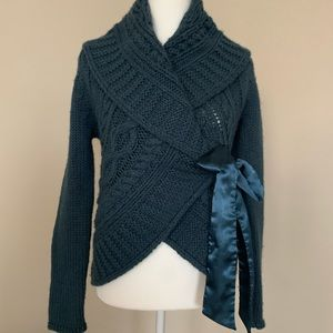 Sweaters - Wrap bow tied romantic sweater